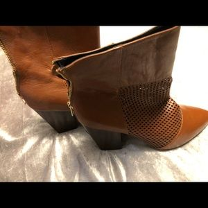 Shoes - Dark tan leather boots
